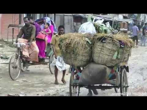 Bangladesh, a Drive into Dhaka City from Ashulia Town. Countryside Driving