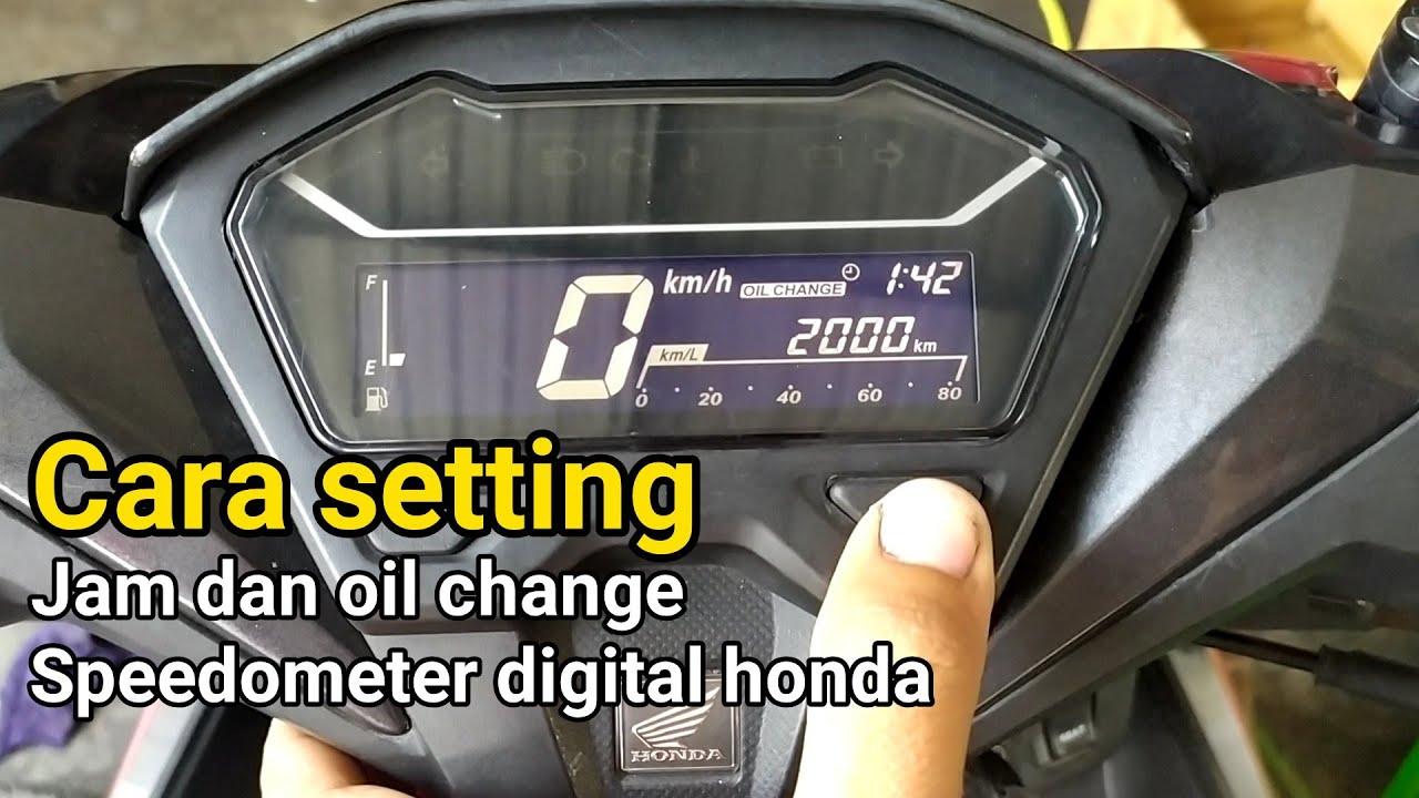 Cara setting speedo jam dan oil change vario 125/150 all new