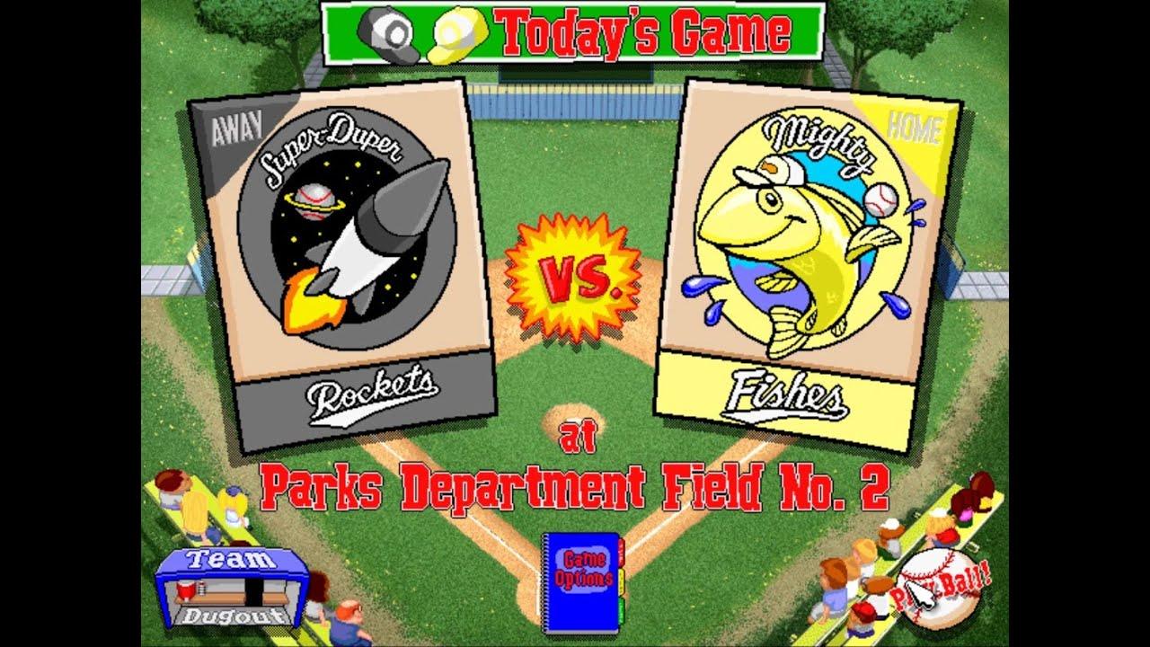 let u0027s play backyard baseball 1997 season game 6 super duper