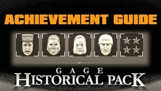 Gage Historical Pack Achievement Guide--Payday 2
