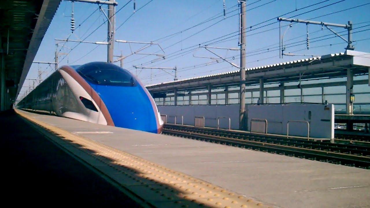 E7系長野新幹線本莊早稲田に唯一停車するE7系あさま507號長野行き 北陸新幹線 - YouTube