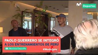 Así fue la llegada de PAOLO GUERRERO a la concentración de Perú previo al partido con Uruguay