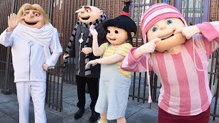 Minions, Gru, Dru, Agnes & Girls Despicable Me 3 Dance, Meet & Greet at Universal Studios Hollywood