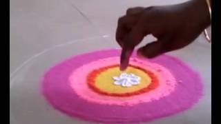 Rangoli making ,, finger techniques basic