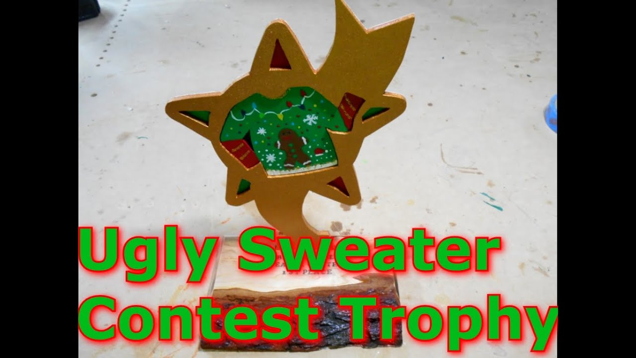ugly sweater contest trophy