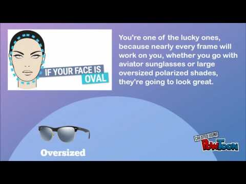 4306431ccfd98 Choosing Sunglasses according to your face shape - YouTube