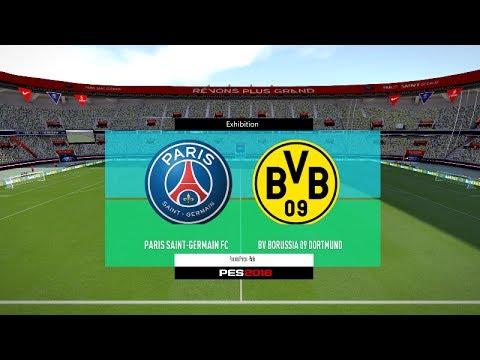 Pes 2018 Psg Vs Borussia Dortmund Full Match Gameplay