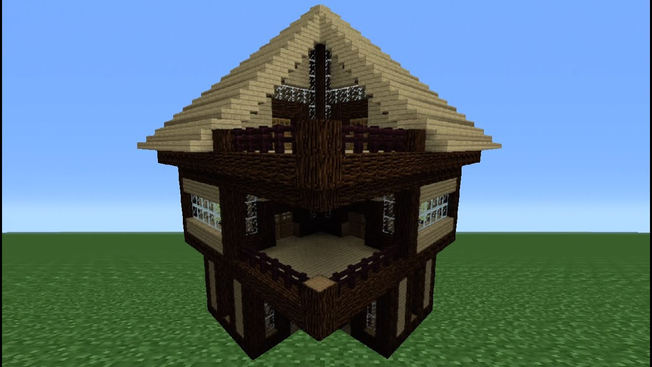 Minecraft tutorial how to make a wooden house 4 youtube - How to make a wooden house ...