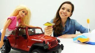 Видео для девочек. Кен и Барби покупают машину