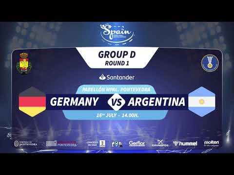 IHF Men's Junior World Championship 2019 Group D (GER VS ARG)