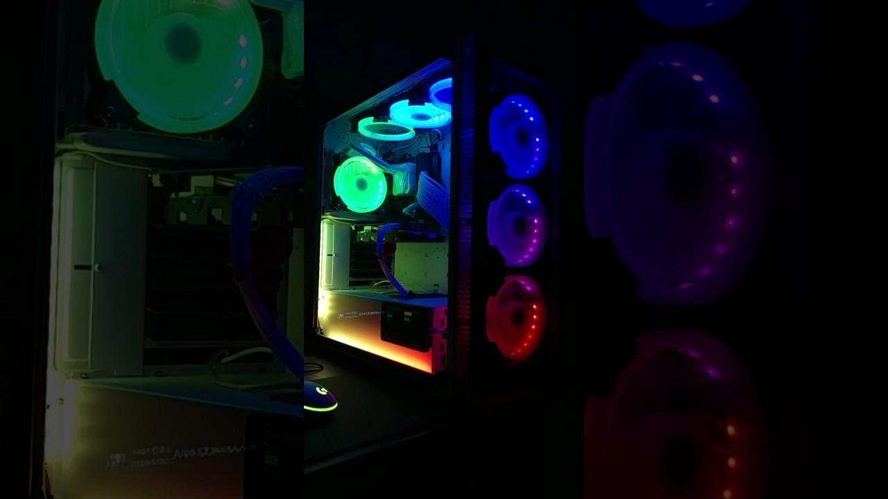 Halo 120mm Rgb Fan Neopixel Mod Youtube