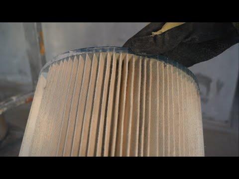 Строительный пылесос чистим фильтр за секунды. Шайтер Андрей!