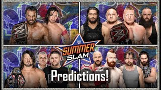 WWE Summerslam 2017 Full Match Card and Predictions! 1080p HD