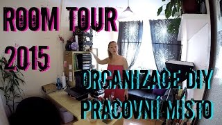 Room tour 2015 + organizace diy potřeb/ Jak skladuji kosmetiku / LADYSASETKA