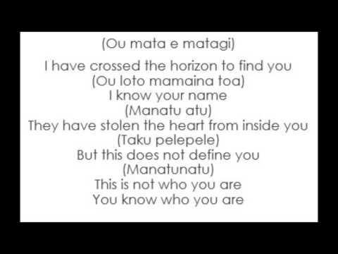 Moana - Cast - Know Who You Are (Lyrics)