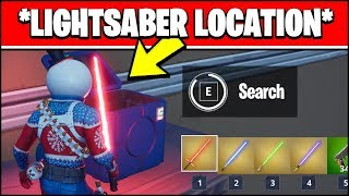 LIGHTSABER LOCATION - DEAL DAMAGE WITH A LIGHTSABER (Fortnite Star Wars Challenges)