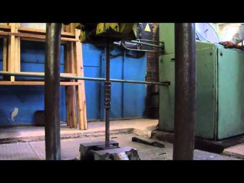 Испытание муфтового соединения арматуры на разрыв