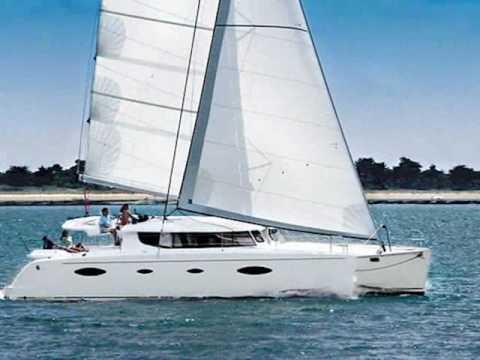 Charter catamaran Salina 48 in Greece.wmv