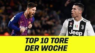 Top10 der Woche: Cristiano Ronaldo mit Köpfchen, Lionel Messi zauberhaft | DAZN Highlights