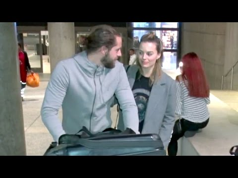 Margot Robbie Looking So In Love With Boyfriend Tom Ackerley At LAX