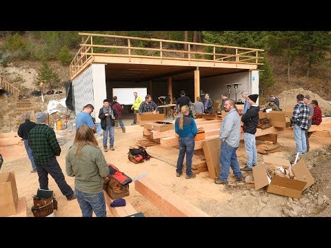 DAY 1: 26 Rookies Build Timber Frame House in 5 Days