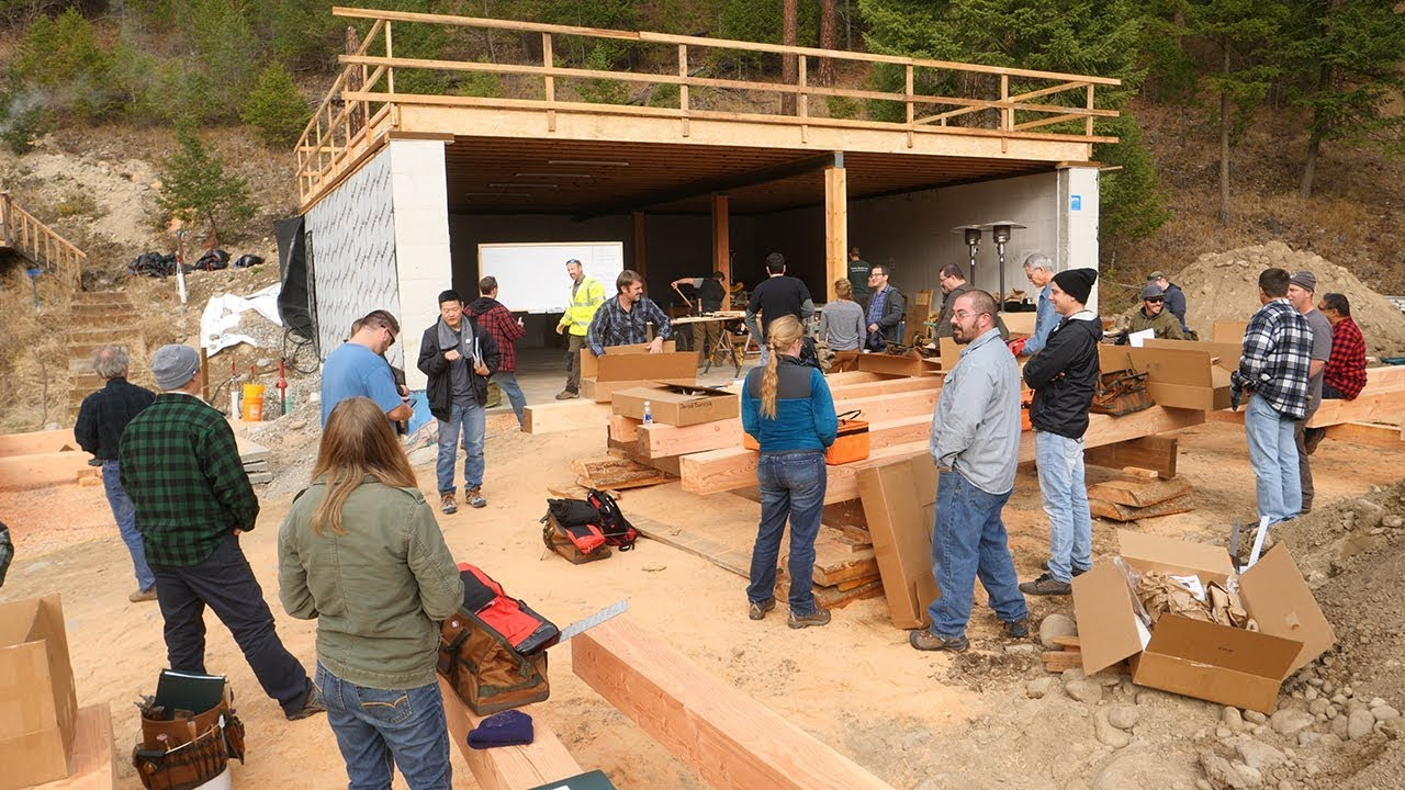 26-rookies-build-timber-frame-house-in-4-days-day-1