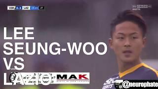 Lee Seung-woo (Hellas Verona #21) vs Lazio (24.09.2017).