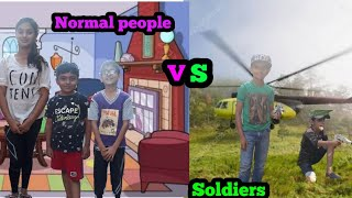 Normal People VS Soldiers of our Country || #Soldiers #Sketch #Group #MyMasterDiom