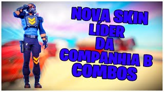 SHOWING THE * NEW * SKIN COMPANY LEADER B & COMBOS | FORTNITE