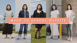 5 Back to School Outfits for the Week - Monday to Friday Lookbook