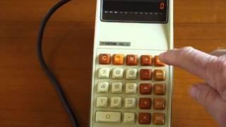 Victor MEC/2 electronic calculator demo