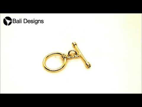 18K Gold Overlay Simple /& Delicate Like Teardrop Toggle TG-143