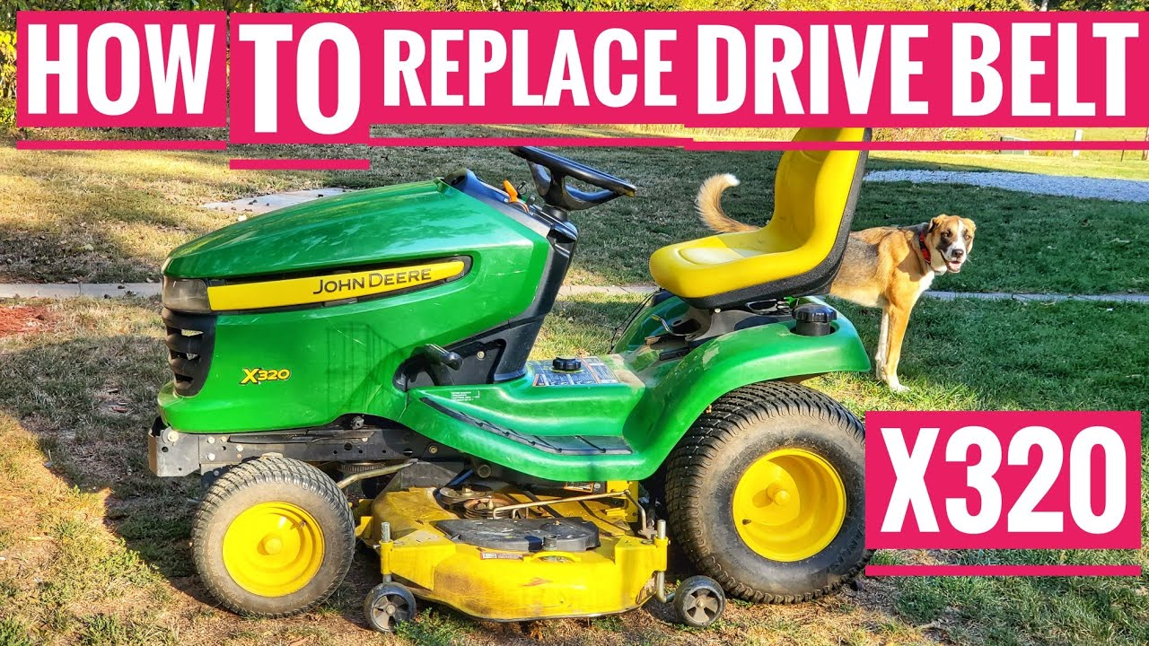 how to replace drive belt john deere x320 riding mower belt m151277 transmission [ 1280 x 720 Pixel ]