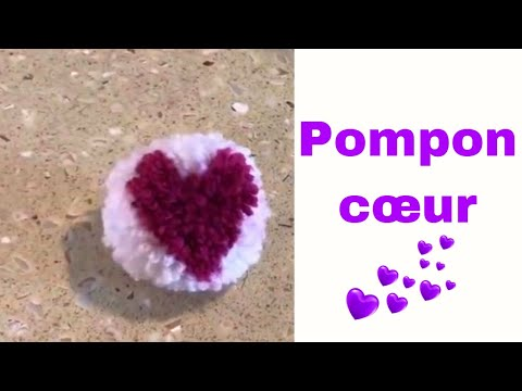 diy pompon coeur pour la saint valentin youtube. Black Bedroom Furniture Sets. Home Design Ideas
