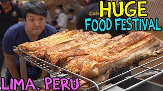 MEAT PARADISE: The LARGEST Food Festival in SOUTH AMERICA, Mistura in Lima Peru thumbnail