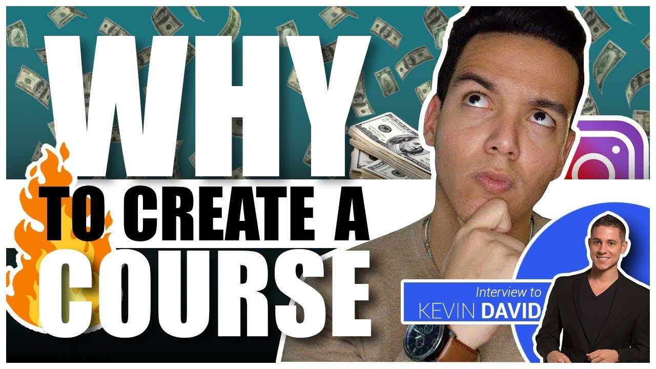 THE #1 BEST WAY TO MAKE MONEY ONLINE in 2019? - How to make a course w/ Kevin David