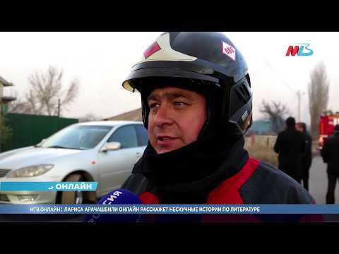 Появилось видео тушения крупного пожара на Селезневке в Волгограде