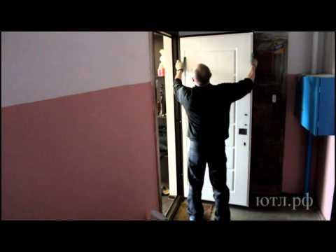 Замена мдф накладки на входной двери.