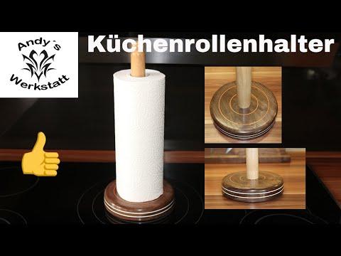 💧 Küchenrollen Halter Deluxe selber machen / Nussbaum und Kirsche
