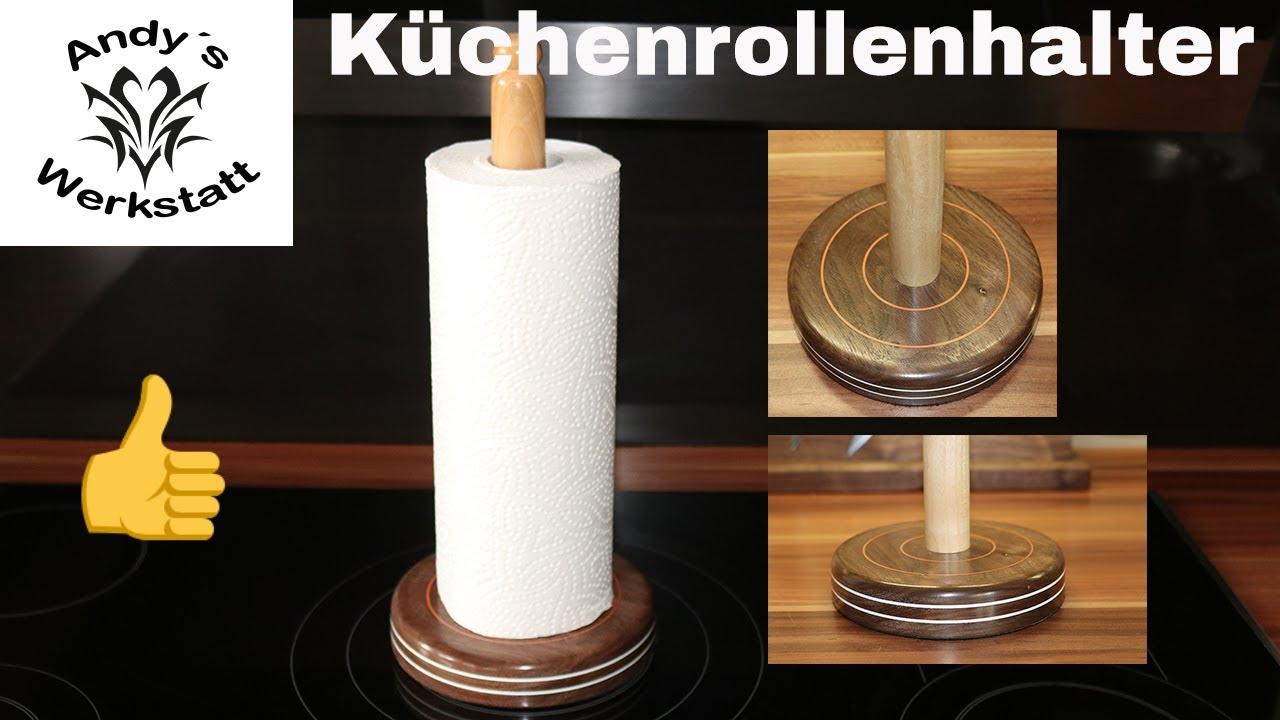 💧 Küchenrollen Halter Deluxe selber machen / Nussbaum und Kirsche ...