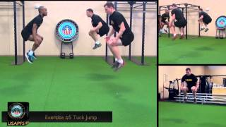 CONDITIONING DRILL 3 EXERCISE 5: TUCK JUMP