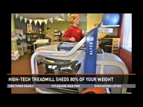 Anti-gravity treadmill makes you feel like running on air