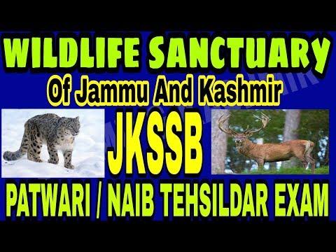 Wildlife sanctuaries in Jammu and Kashmir   jkssb Patwari   Naib Tehsildar Exam