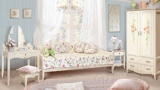 Детская спальня из коллекции мебели Флорис в стиле Прованс.(Коллекция мебели «Флорис» поможет Вам создать зону отдыха в своем доме: экологически чистые материалы..., 2016-10-21T07:37:11.000Z)