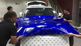 Audi Q5 S-line cosmic blue wrap