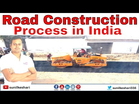 road construction process in india