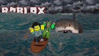 THERE'S A SHARK!!!   Roblox Shark Bite w/ FunkySquadHD (Facecam)