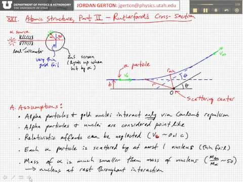 PHYS3740 Lecture21-2 Rutherford Cross-Section