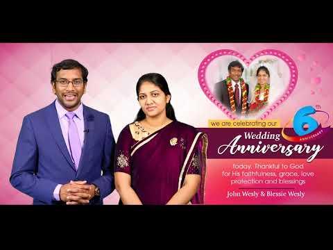 Celebrating 6 Yrs Of God's Faithfulness || Dr John Wesly & Blessie Wesly Wedding Annivesary