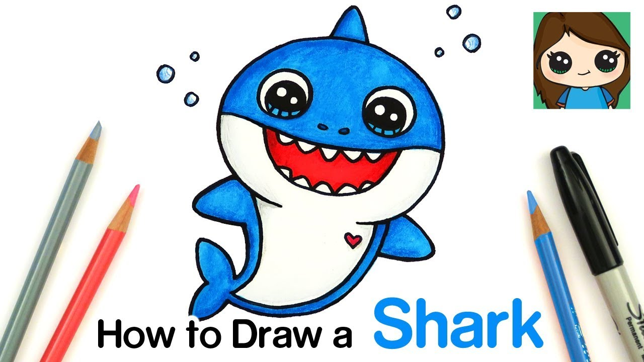 How to Draw Baby Shark Easy YouTube